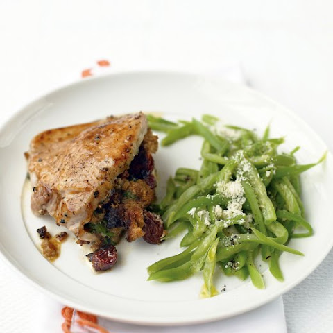 Raisin-and-Bread-Stuffed Pork Chops