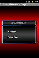 Screenshot of SSF4 AE Pocket Guide