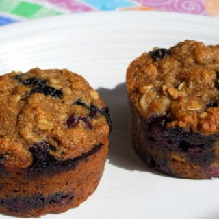 Whole Wheat Banana- Blueberry Muffins
