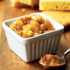 Corn Bread with Curried Apricot Chutney