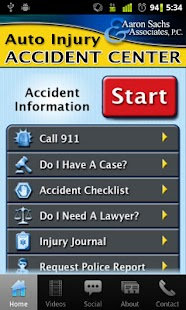 Auto Injury - Sachs Law Firm - screenshot