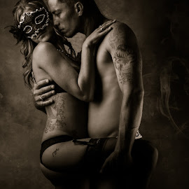 Couple by Brad N Sky Thomson - People Couples ( #masquerade #love #masquerade #sexy #passion )