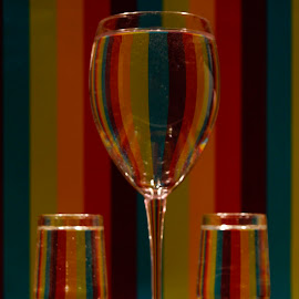 wine glasses by Helly Maree - Food & Drink Alcohol & Drinks ( water, coral, shells, wine glass, rainbow )