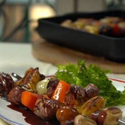 Coq au Vin on a stick