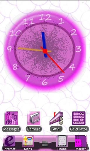 Crazy Clock I Glow Pink