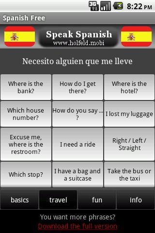 玩旅遊App|Speak Spanish Free免費|APP試玩