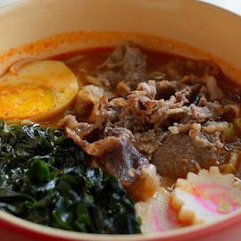 Spicy Beef Ramen by Rudyanto A. Wibisono - Food & Drink Plated Food ( ramen )