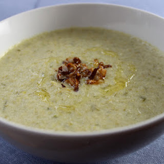 Spring Onion and Celery Soup with Crispy Onions
