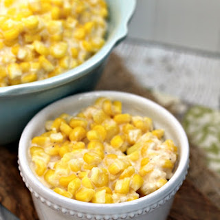 Crock Pot Cheddar Creamed Corn