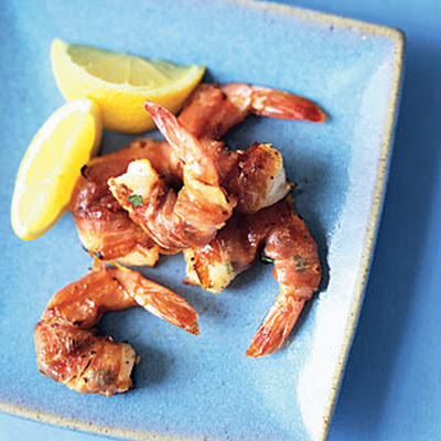 Prosciutto-Wrapped Basil Shrimp