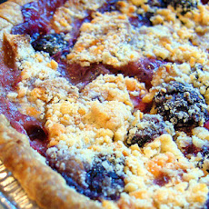Saucy Apple and Blackberry Pie