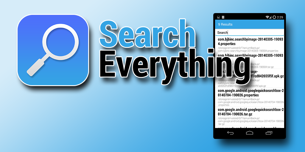 Search Everything Screenshot