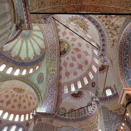 The Sultan Ahmed Mosque - detail by Biljana Nikolic - Buildings & Architecture Architectural Detail