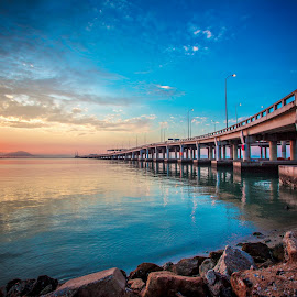 Sunrise at Penang  by Lim Louis - Landscapes Sunsets & Sunrises
