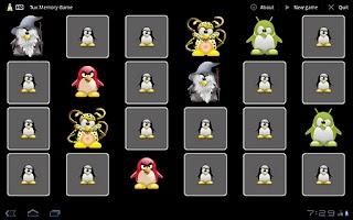 Screenshot of Tux Memory Game