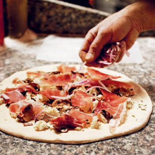 Speckenwolf Pizza With Mozzarella, Oregano, Onion, Mushroom, and Speck From 'Roberta's'