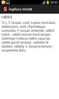 Screenshot of İngilizce Sözlük