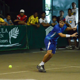Marc Reyes playing at the 2013 PCA Mens Open Finals by Jo Ber - Sports & Fitness Tennis