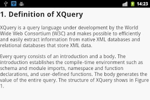 Screenshot of XML EBook
