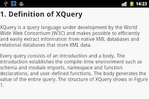 Screenshot of XML EBook