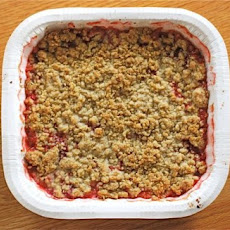 A Simple Strawberry Rhubarb Crisp