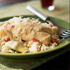 Lemon Chicken and Rice with Artichokes