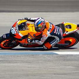Dani Pedrosa MotoGP 2012 by Nathaniel Beighley - Sports & Fitness Motorsports ( motogp, motorcycle racing, indianapolis, indy, motorcycle, nikon, d5100, colorful, mood factory, vibrant, happiness, January, moods, emotions, inspiration )