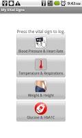 Screenshot of My Vital Signs