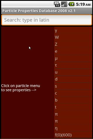 Particle Properties