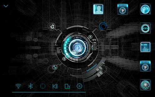 Free Download Black mechanic Atom Theme APK for Samsung