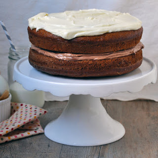 Banana Cake with Nutella and Cream Cheese Frosting
