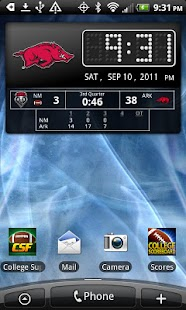Arkansas Razorbacks Live Clock - screenshot