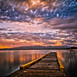 Dock 2 by Leah Varney - Landscapes Sunsets & Sunrises (  )
