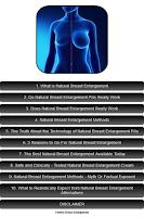 Screenshot of Natural Breast Enlargement