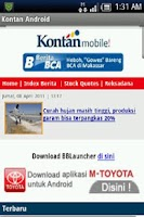 Screenshot of Kontan Mobile