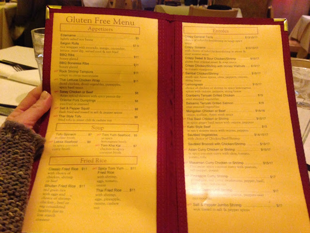 This is the gluten free menu... Many options!!!