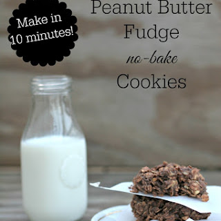 Peanut Butter Fudge No Bake Cookies