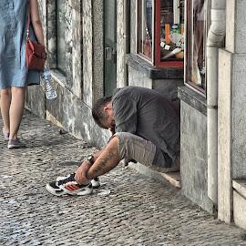 Elevador da Bica by Eduardo Magalhães - City,  Street & Park  Street Scenes