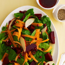 Simanim Salad with Pomegranate Balsamic Dressing