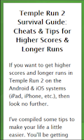 Screenshot of #1 Temple Run 2 Cheat Guide