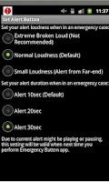 Screenshot of an Emergency Button GPS+