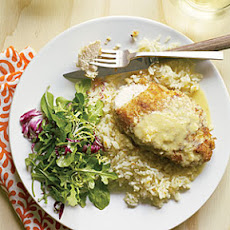 Macadamia Chicken with Orange-Ginger Sauce and Coconut Pilaf