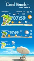 Screenshot of COOLBEACH THEME GO WEATHER