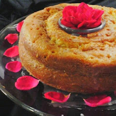 Rose-Lemon Glazed Cake