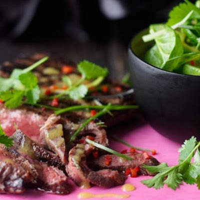 Chargrilled Steak And Coriander Salad With Mango Vinaigrette