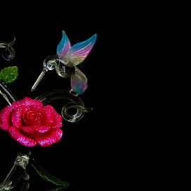 Love by Melbin Thomas - Artistic Objects Glass ( rose, glass, flower )