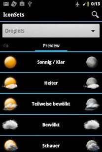 AHWeather Droplets IconSet - screenshot