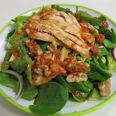 Chicken Spinach Salad With Warm Bacon Dressing