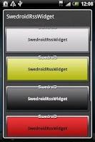Screenshot of Swedroid news widget