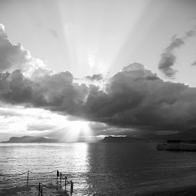 by Alessandro Bagnasco - Landscapes Sunsets & Sunrises ( black and white, b&w, landscape )